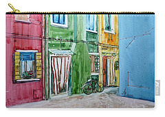 Carry-all Pouch featuring the painting Burano by Anna Ruzsan