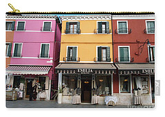 Carry-all Pouch featuring the painting Burano by Robin Maria Pedrero