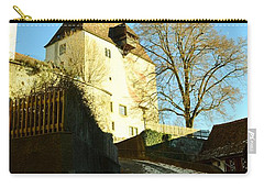 Carry-all Pouch featuring the photograph Burgdorf Castle In December by Felicia Tica