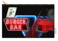 Burger Bar Neon Diner Sign At Night Carry-all Pouch