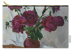 Burgundy Peonies Carry-all Pouch