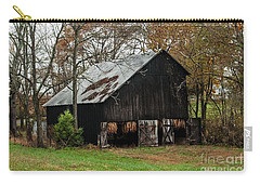 Carry-all Pouch featuring the photograph Burley Tobacco  Barn by Debbie Green