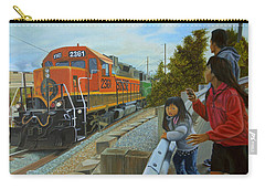 Burlington Northern Santa Fe Carry-all Pouch by Thu Nguyen