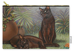 Carry-all Pouch featuring the painting Burmese Beauty by Cynthia House