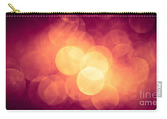 Carry-all Pouch featuring the photograph Burning Bokeh by Jan Bickerton