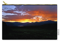 Carry-all Pouch featuring the photograph Burning Of Uncertainty by Jeremy Rhoades