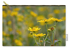 Carry-all Pouch featuring the photograph Burrmarigold by Paul Rebmann