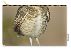 Carry-all Pouch featuring the photograph Burrowing Owl by Bryan Keil
