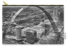 Busch Stadium Bw A View From The Arch Merged Image Carry-all Pouch