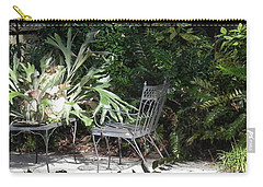 Bust In A Garden With Staghorn Fern Carry-all Pouch by Patricia Greer