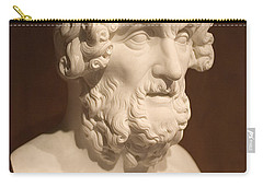 Carry-all Pouch featuring the photograph Bust Of Homer by Mark Greenberg