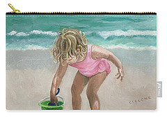 Busy Beach Girl Carry-all Pouch