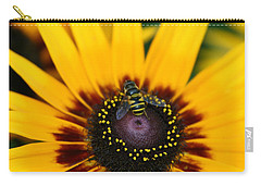 Carry-all Pouch featuring the photograph Busy Bee by Denyse Duhaime