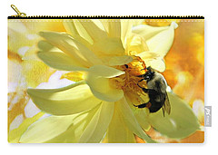 Busy Bumble Bee Carry-all Pouch by Judy Palkimas