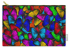 Carry-all Pouch featuring the photograph Butterflies In Flight Panorama by Kyle Hanson