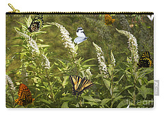 Carry-all Pouch featuring the photograph Butterflies In Golden Garden by Belinda Greb
