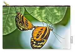 Carry-all Pouch featuring the photograph Butterflies Mating by Thomas Woolworth