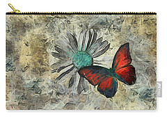 Butterfly And Daisy - Ftd01t01 Carry-all Pouch