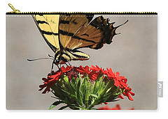 Butterfly And Maltese Cross 1 Carry-all Pouch by Aaron Aldrich