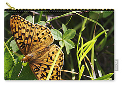 Carry-all Pouch featuring the photograph Butterfly At Signal Mountain by Belinda Greb