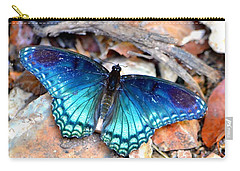 Carry-all Pouch featuring the photograph Butterfly Blue  by Deena Stoddard