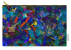 Carry-all Pouch featuring the photograph Butterfly Collage Blue by Robert Meanor