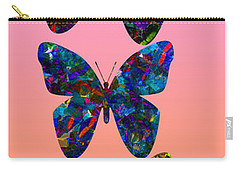 Carry-all Pouch featuring the photograph Butterfly Collage IIII by Robert Meanor