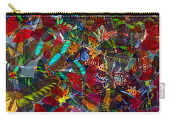 Carry-all Pouch featuring the photograph Butterfly Collage Red by Robert Meanor