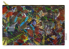 Carry-all Pouch featuring the photograph Butterfly Collage by Robert Meanor