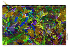 Carry-all Pouch featuring the photograph Butterfly Collage Yellow by Robert Meanor