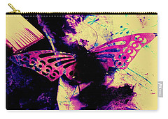 Carry-all Pouch featuring the photograph Butterfly Disintegration  by Jessica Shelton