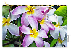 Carry-all Pouch featuring the photograph Butterfly Flowers by Thomas Woolworth