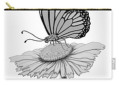 Carry-all Pouch featuring the digital art Butterfly Friends by Carol Jacobs