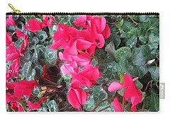 Carry-all Pouch featuring the photograph Butterfly Garden Red Exotic Flowers Las Vegas by Navin Joshi