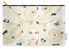 Butterfly Girl Carry-all Pouch by Linda Lees
