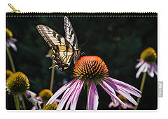 Butterfly In The Garden Carry-all Pouch by Glenn DiPaola