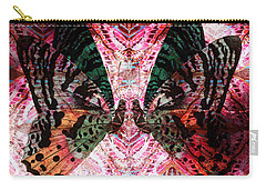 Carry-all Pouch featuring the digital art Butterfly Kaleidoscope by Kyle Hanson