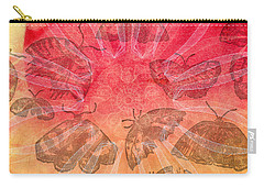 Carry-all Pouch featuring the digital art Butterfly Letterpress Watercolor by Kyle Hanson