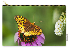 Carry-all Pouch featuring the photograph Butterfly Love by Christina Rollo