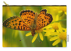 Carry-all Pouch featuring the photograph Butterfly by James Peterson