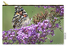 Carry-all Pouch featuring the photograph Painted Lady Butterfly by Eunice Miller