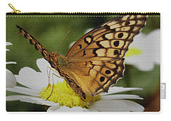 Carry-all Pouch featuring the photograph Butterfly On Daisy by James C Thomas