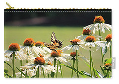 Butterfly On Echinacea Carry-all Pouch
