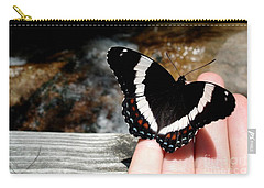 Butterfly On Fingertips Carry-all Pouch
