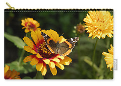 Butterfly On Flower Carry-all Pouch by Charles Beeler
