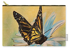 Butterfly On Flower Carry-all Pouch