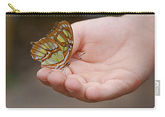 Carry-all Pouch featuring the photograph Butterfly On Hand by Leticia Latocki
