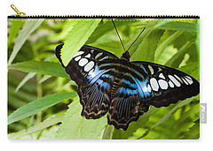 Butterfly On Leaf   Carry-all Pouch by Lars Lentz