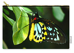 Butterfly On Leaf Carry-all Pouch by Laurel Powell