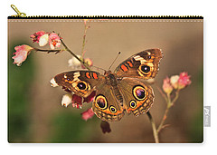 Butterfly On Pink Carry-all Pouch